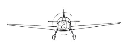 Airplane (vector) Royalty Free Stock Photos