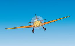 Airplane (vector). Airplane in flight (cmyk to rgb Royalty Free Stock Images