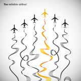 Airplane, vector abstract background Royalty Free Stock Photo