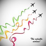 Airplane, vector abstract background Stock Photo