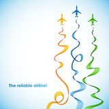 Airplane, vector abstract background Royalty Free Stock Image