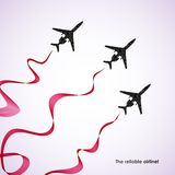Airplane, vector abstract background Stock Images