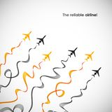 Airplane, vector abstract background Stock Photography