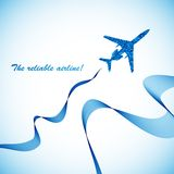 Airplane, vector abstract background. This is file of EPS10 format Royalty Free Stock Photo