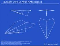 Airplane vector blueprint Stock Photos