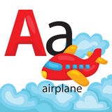 A for airplane Royalty Free Stock Photo
