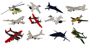 Airplane vector composition Royalty Free Stock Photography