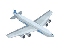 Airplane Vector Icon in Isometric Projection. Airplane isometric projection icon. Passenger aircraft vector illustration on white background. Air transportation vector illustration