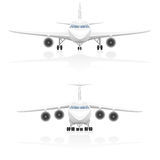 Airplane vector illustration Stock Photos