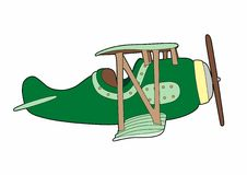 Airplane. Vector Illustration of a small plane, EPS 8 file Royalty Free Illustration