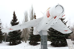 Airplane, Victory Park, Kazan, Russia. Airplane in Victory Park in Kazan, Russia, 09.03.2017 Stock Photos