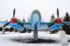 Airplane, Victory Park, Kazan, Russia Stock Photography