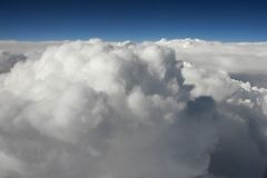 Airplane View. Clouds as seen from an airplane Royalty Free Stock Photography