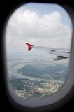 Airplane view Royalty Free Stock Photography