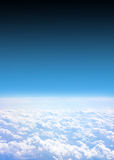 Airplane view. Background abstract: blue airplane view Royalty Free Stock Image