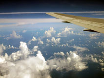 Airplane. The view from an airplane Royalty Free Stock Photo
