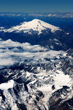 Airplane view of Ararat mountain. Beautiful airplane view of Ararat mountain in clouds Stock Images