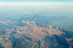 Airplane View Of Earth Horizon Royalty Free Stock Image