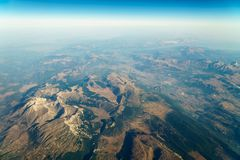 Airplane View Of Earth Horizon. Airplane View Of Planet Earth Horizon Royalty Free Stock Photo