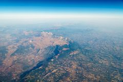 Airplane View Of Earth Horizon. Airplane View Of Planet Earth Horizon Stock Photos