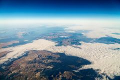 Airplane View Of Earth Horizon. Airplane View Of Planet Earth Horizon Royalty Free Stock Photos
