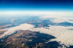 Airplane View Of Earth Horizon Royalty Free Stock Photos