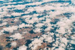 Airplane View Of Earth Horizon. Airplane View Of Planet Earth Horizon Royalty Free Stock Image