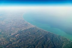 Airplane View Of Earth Horizon Stock Photo