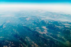 Airplane View Of Earth Horizon. Airplane View Of Planet Earth Horizon Stock Image