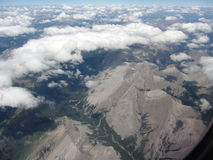 Airplane View  of the Rocky Mountain Stock Image