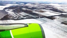 Airplane view window porthole stock video footage