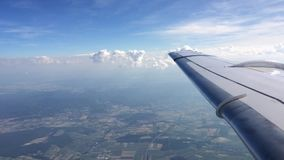 Airplane view stock video footage