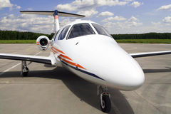 Airplane for vip flights. (aeroport Stock Photography