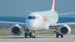 Airplane waiting start stock footage