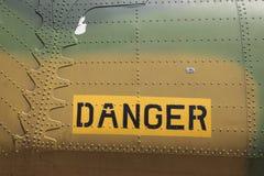 Airplane warning Stock Photos