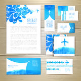 Airplane watercolor artistic document template Royalty Free Stock Photography