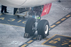 Airplane wheel Stock Photos
