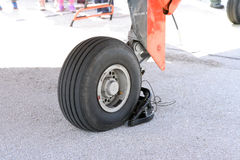 Airplane wheel Stock Image