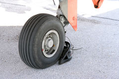 Airplane wheel Royalty Free Stock Photography