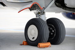 Airplane wheels Stock Photography