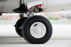 Airplane wheels Stock Images