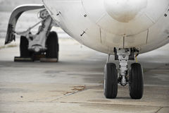Airplane Wheels Royalty Free Stock Images