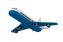 Airplane on white background Stock Images