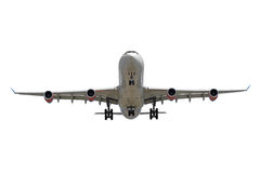 Airplane on white background Royalty Free Stock Photography