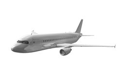Airplane on white. Royalty Free Stock Photography