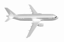 Airplane on white. Stock Image