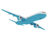 Airplane  on a white background. 3D rendering Royalty Free Stock Photo