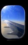 Airplane window royalty free stock photos