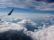 Through airplane window Stock Images