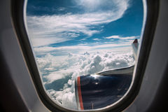 Airplane window Stock Photography